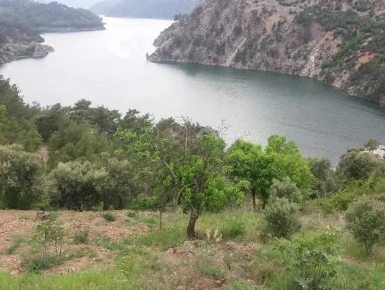 Dalaman Bozbel De Baraj Gölü Manzaralı Tarla Satılık