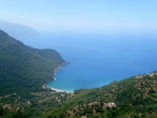 Fethiye Faralyada Satılık Full Deniz Manzaralı Arazi